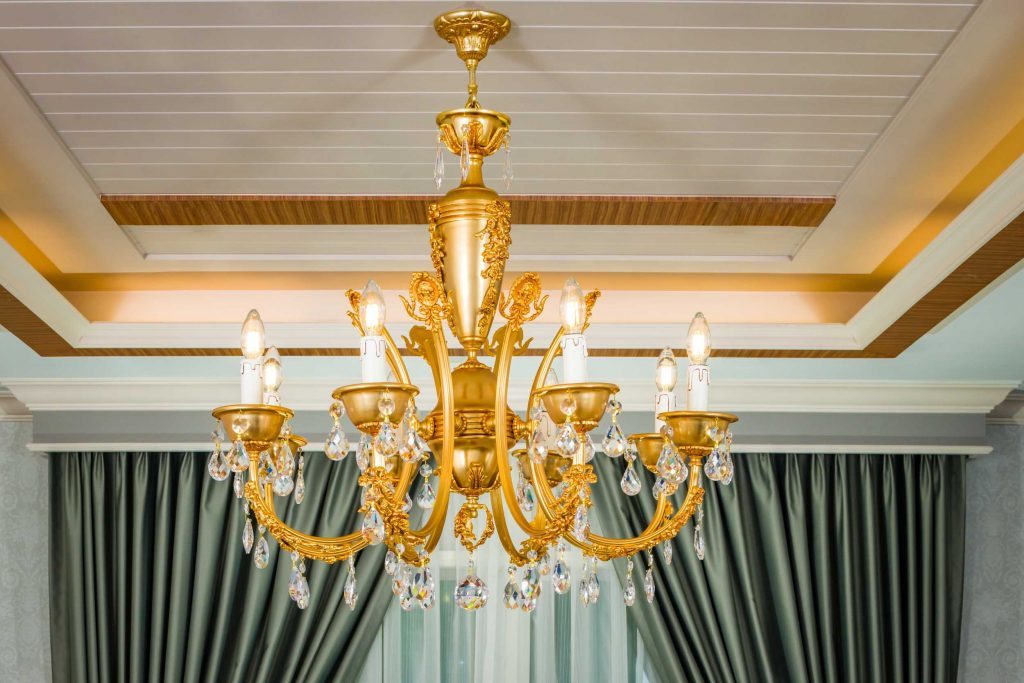 luxe style furniture chandelier