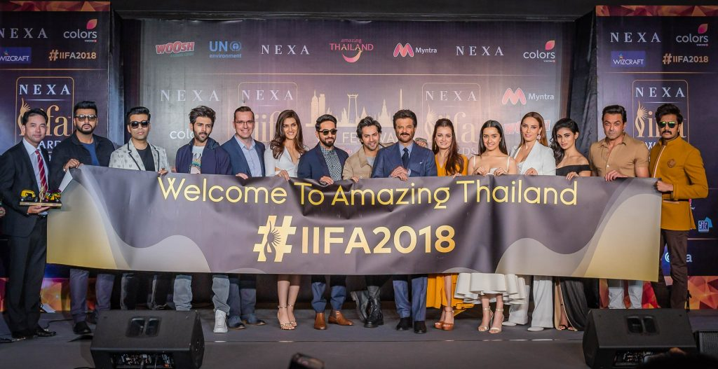 Iifa Press 2018 Bangkok event with Anil Kapoor